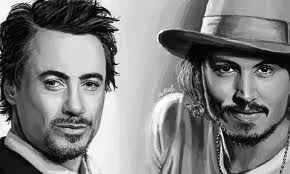 Johnny Depp and Robert Downey Jr