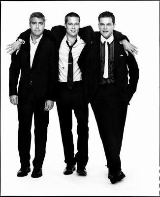 George Clooney, Brad Pitt and Matt Damon